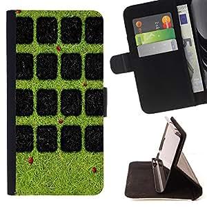 King Case - FOR HTC DESIRE 816 - The beetle mazes - Prima caja de la PU billetera de cuero con ranuras para tarjetas, efectivo Compartimiento desmontable y correa para la mu?eca