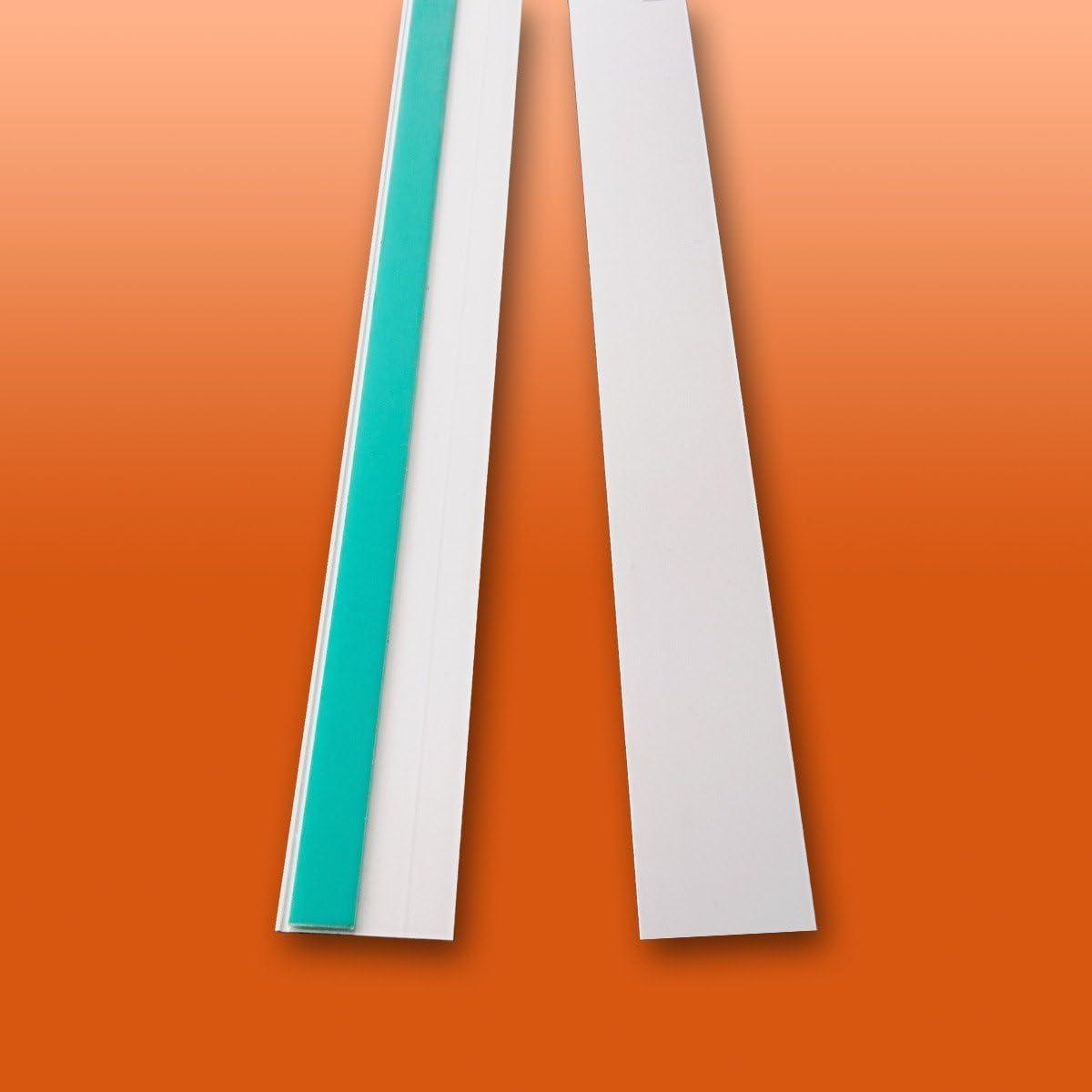 B: 30mm | L: 1m Flachleiste Kunststoffleiste Fensterleiste mit Gummilippe