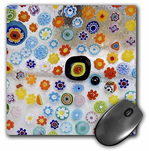 3dRose LLC 8 x 8 x 0.25 Italy Venice Millefiori Glass Abstract Jaynes Gallery Mouse Pad (mp_82072_1) (Rose Millefiori)