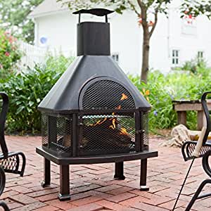 Red Ember Wellington 4 ft. Fireplace with FREE Cover