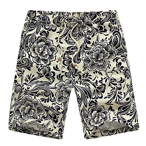 da Men dritto stampato di Sport spiaggia dimensioni grandi Summer lavoro da Nuovo multicolore Elasticità Sportswear Adeshop Allentato 1 Tipo Pantaloncini Casual pantaloni tAfn4