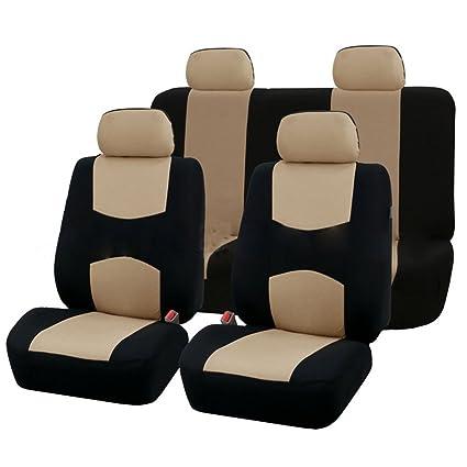 Juego de fundas de asiento de coche de 9 piezas para 5 plazas Universal Aplicación de coche 4 estaciones disponibles