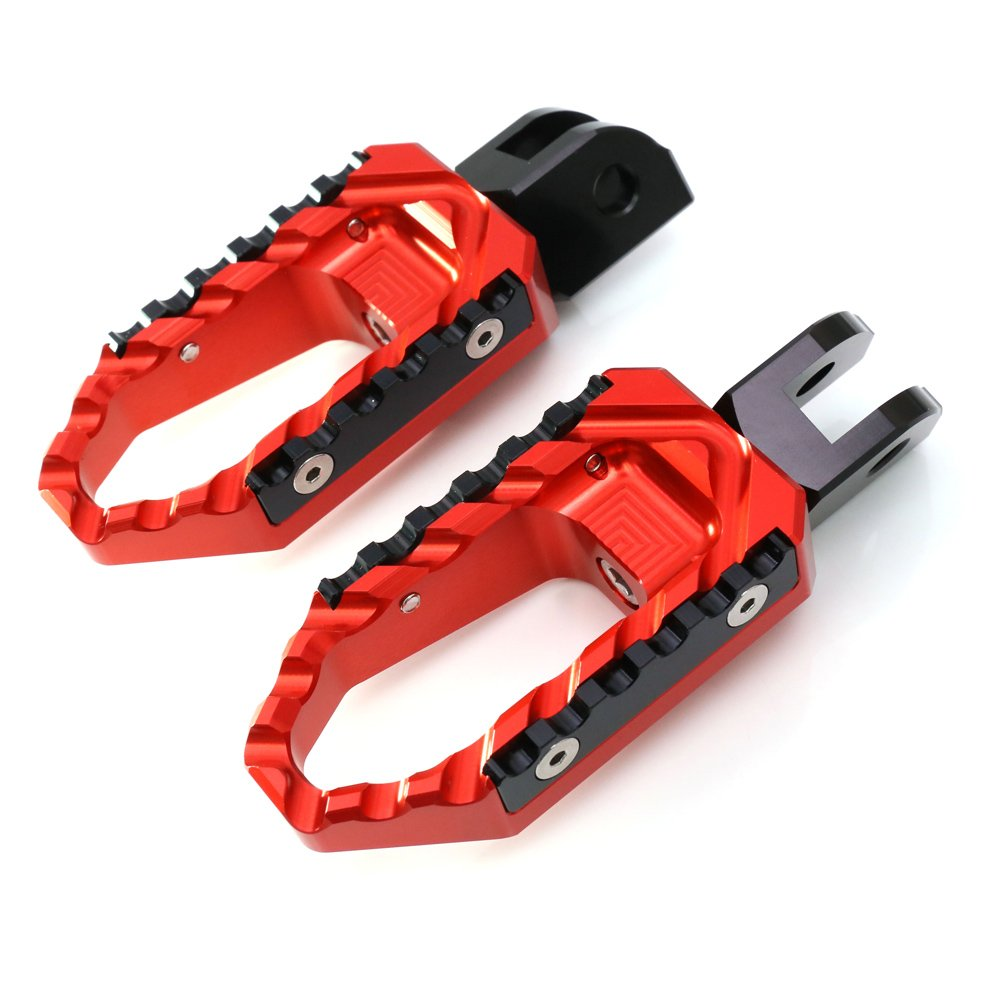 Red CNC Adjustable Front Touring Foot Pegs For Honda CB500X 2013-2017