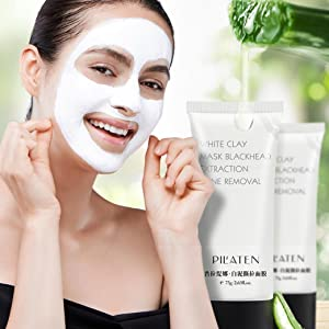 Removal Blackhead Mask Set,Putars Blackhead Remover White Mud Deep Cleansing Purifying Peel Face Mask