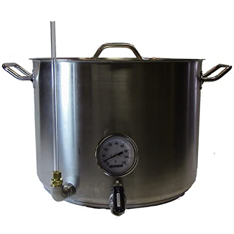 10 gallon heavy duty stainless steel kettle hlt hot liquor tank