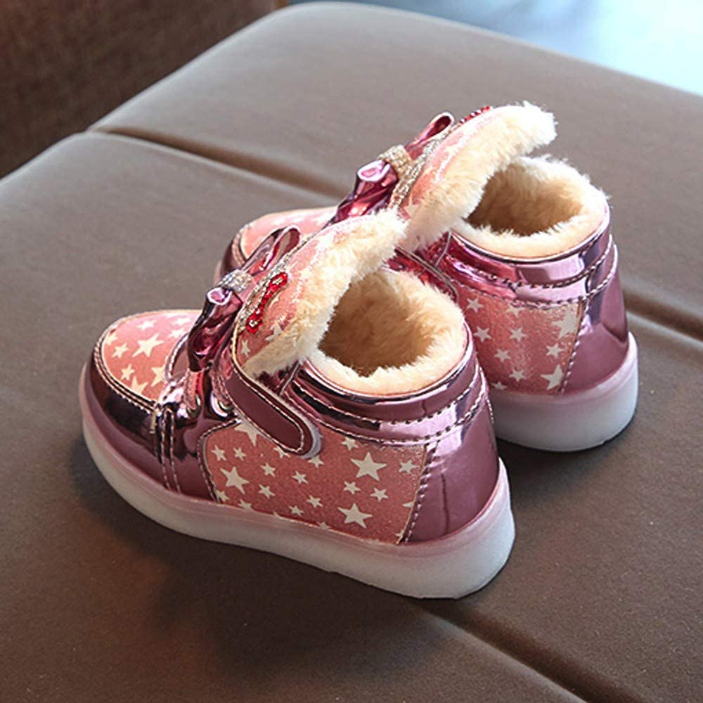 OHQ-Chaussures Enfant en Bas /âGe,Chaussures pour Mariage,/à Talons,Chaussures Au avec Lumi/èRe pour L/éClairage Les Mode Baskets Star Lumineux Occasionnel Lumi/èRe