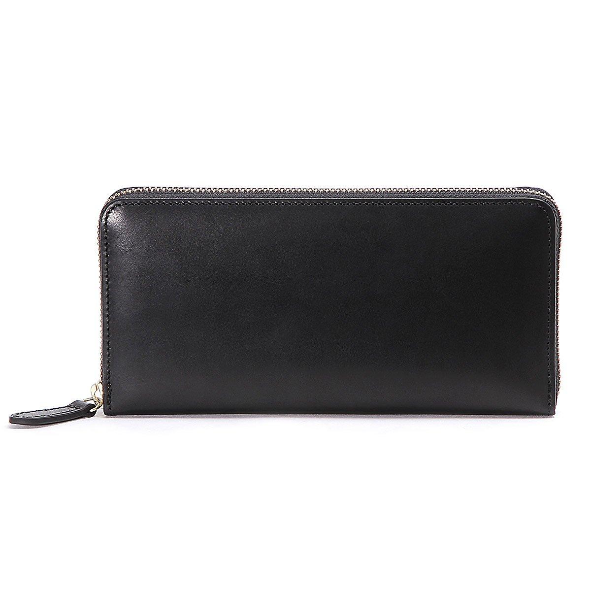 スロウ 長財布 round long wallet herbie SO659G B07FYHYV1R ブラック ブラック