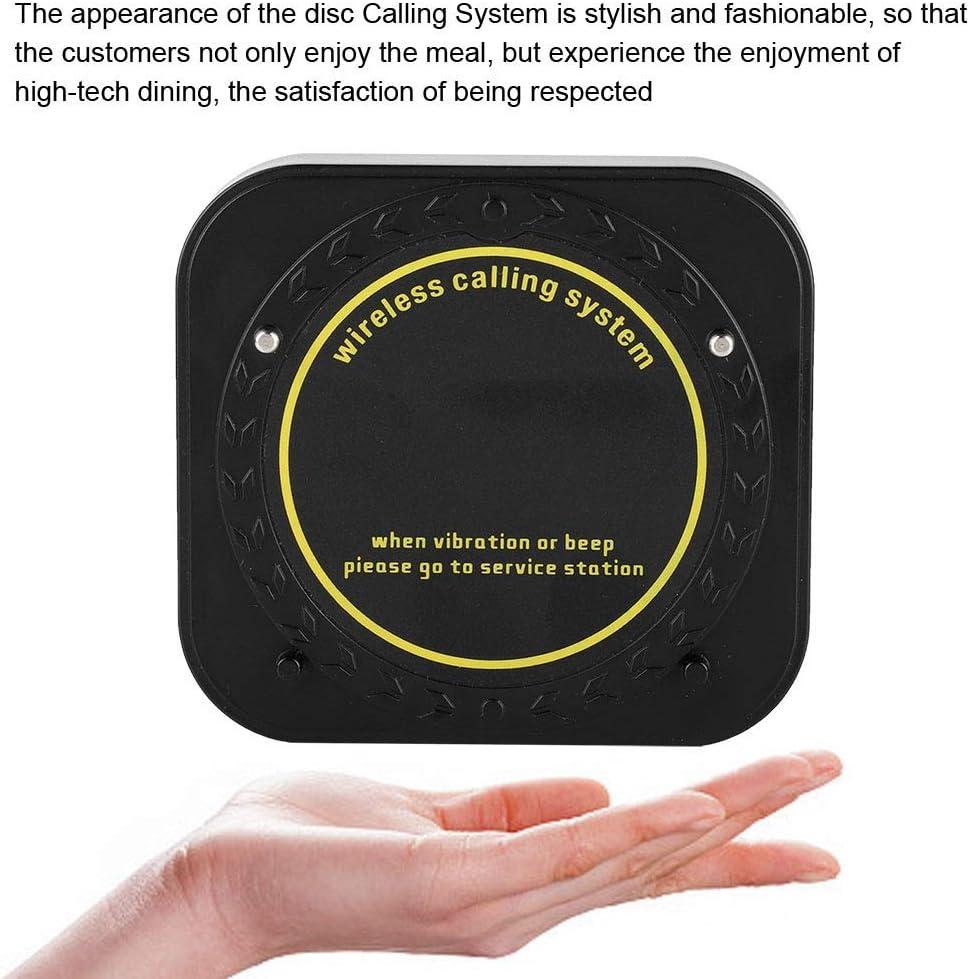 10 * R/écepteur Rechargeables Pratique pour des Occassions dattente ou de Faire la Queue VBESTLIFE Syst/ème dAppel sans Fil de Reastaurant 1 * /Émetteur EU
