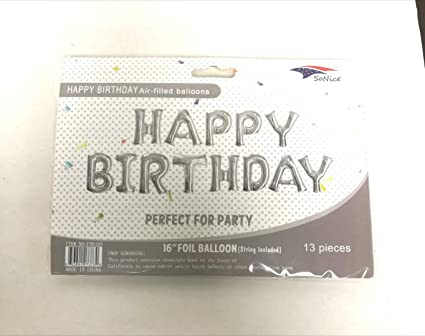Amazon Com Sonice Party Silver Color Theme Happy Birthday Party
