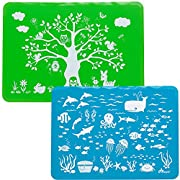 Brinware / Forest & Sea Friends Slip-Resistant Silicone Placemat Set