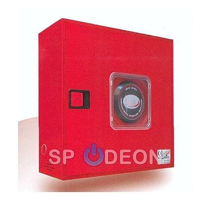 BIE abatible, 25 mm, manguera de 20 metros con puerta semiciega roja con visor: Amazon.es: Industria, empresas y ciencia