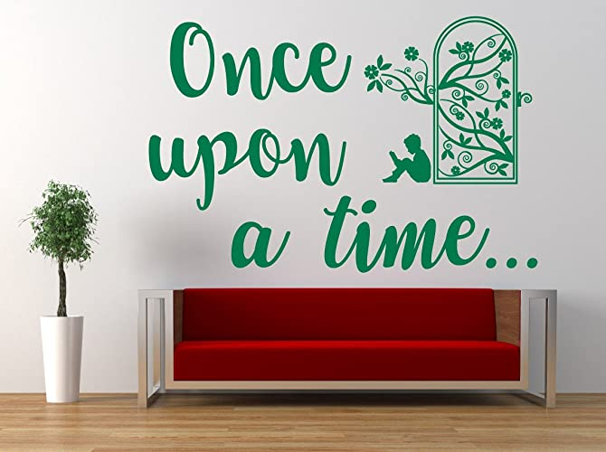 Amazon Com Once Upon A Time Quote Vinyl Wall Art Sticker Mural