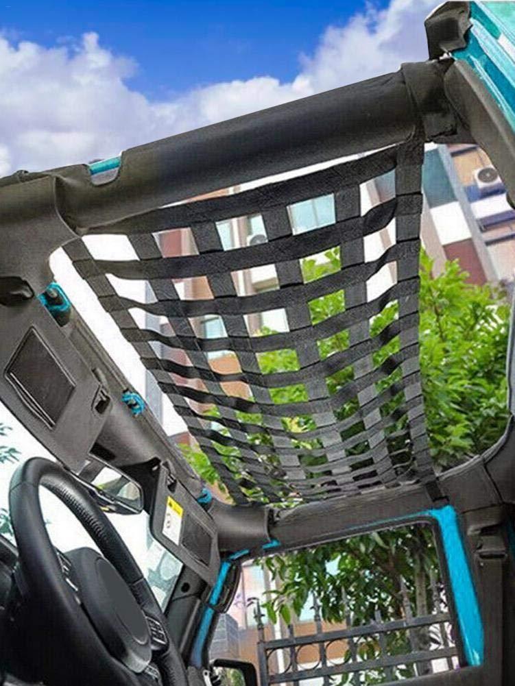 Auto Dachnetz H/ängematte Schutznetz Auto Multifunktions Dach H/ängemattennetz f/ür Jeep Wrangler TJ JK JL 1997-2019 Mesh Cargo Net