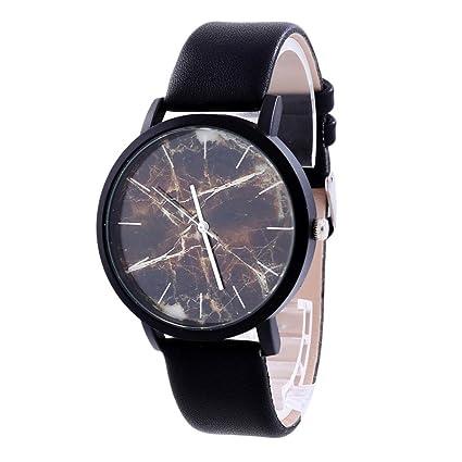 Xinantime Relojes Unisex,Xinan Relojes Reloj Pulsera Cuero Cuarzo PU Acero Inoxidable (A)