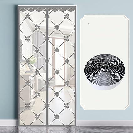 mantiene el aire fresco dentro y fuera de los insectos f/ácil de instalar sin perforar LING Mosquitera para puerta beige puerta de pantalla magn/ética cortina de puerta con cinta de marco completo