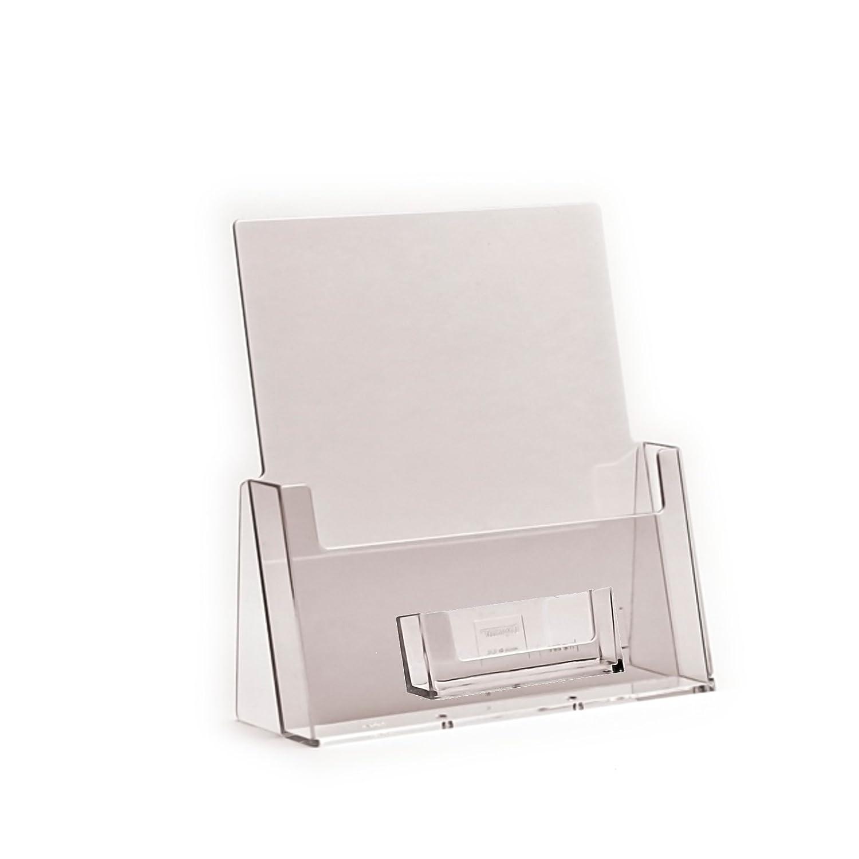 Eposgear® 5 unidades - A5 folleto folletos menú soporte & Negocio Tarjeta dispensador pantalla Stands: Amazon.es: Oficina y papelería