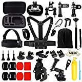 Iextreme 43-in-1 Action Camera Accessories Bundle Kit for Gopro Hero 6 5 4 Black Session Accessory Bundle Kit for Gopro Action Camera with Chest Strap Mounts