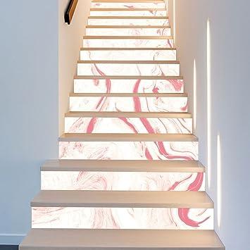 BAI-Fine 13 Bandas de contramarcha para escaleras, Cinta de decoración de escaleras, decoración de escaleras, calcomanías de Escalera, extraíbles, Pegatinas de Star Riser: Amazon.es: Bricolaje y herramientas