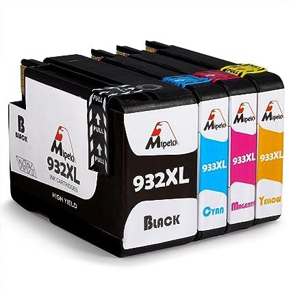 Mipelo Compatible HP 932XL 933XL 932 933 Cartuchos de tinta para ...