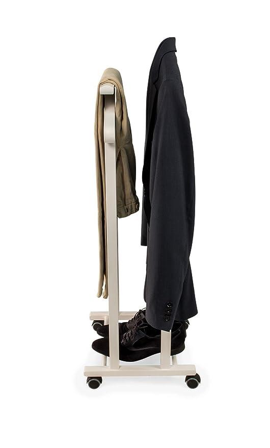 ARREDAMENTIITALIA Arredamenti Italia Gal/án de Noche para Dormitorio Trendy Color: Blanco Ar-It il Cuore del Legno Percha Doble Madera