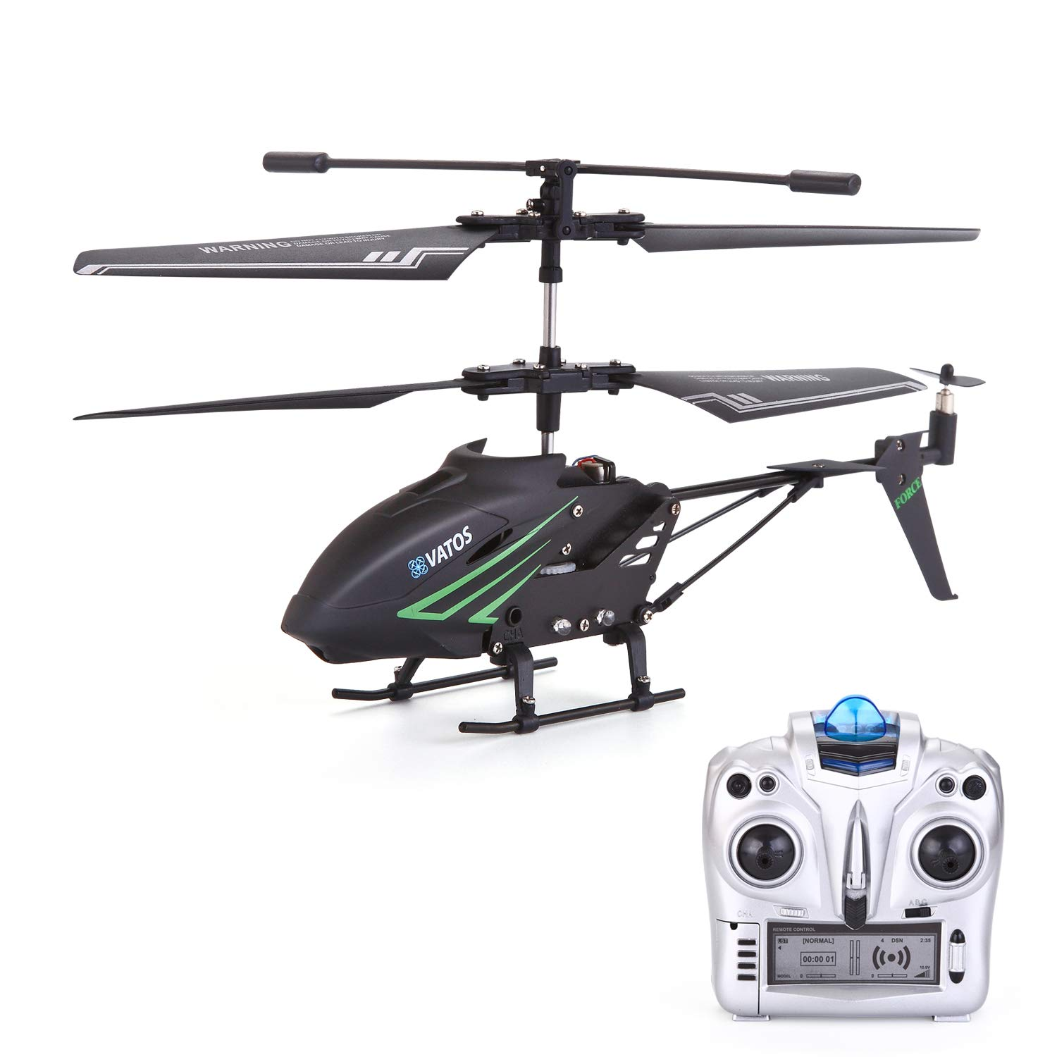 RC Helicopter, Remote Control Helicopter with Gyro and LED Light 3.5HZ Channel Alloy Mini Helicopter Remote Control for Kids & Adult Indoor Outdoor Micro RC Helicopter Best Helicopter Toy Gift by VATOS (Image #1)