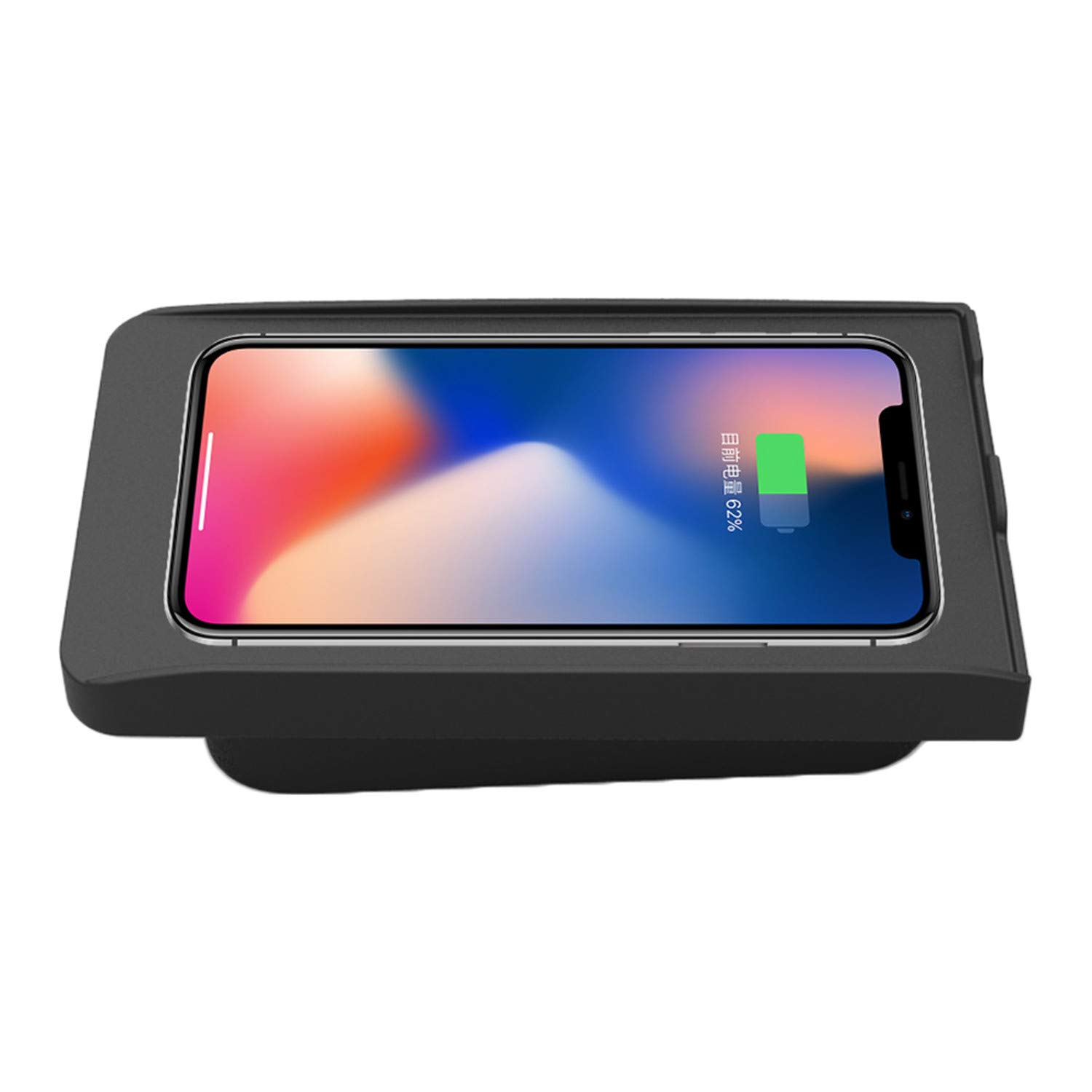 ZWNAV Wireless Car Charger Mount for Volvo XC90/XC60/S90L/V90 2017-2018, Qi Certified, 10W Fast Charging Compatible with iPhone XS/XR/X/8/8+, Samsung S9+ /S9 /S8/S7/Note 8 and Qi Enabled Devices