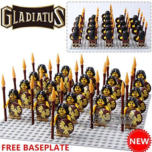 JIREZON 21pcs Series 10 Gladiatus WARRIOR WOMAN Team Blocks DIY Minifigures Toys Gifts (Lego Star Wars Newest)