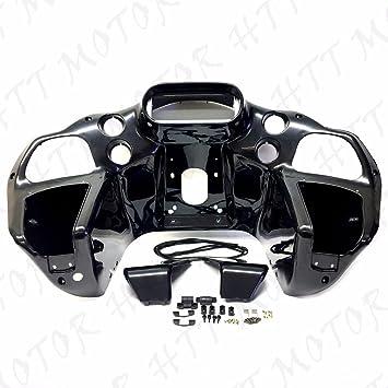 Black Inner Outer Headlight Fairing Fit For Harley Road Glide FLTR 1998-2013