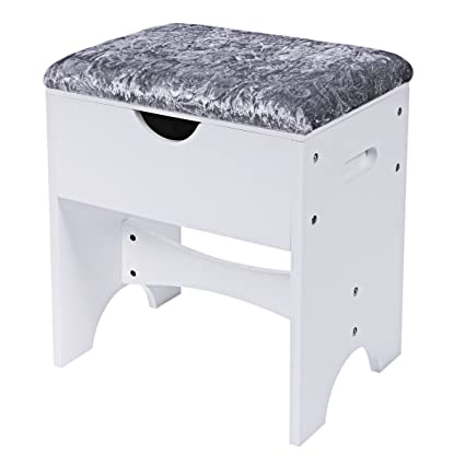 Amazon.com: BEWISHOME Vanity Stool Bedroom Makeup Vanity Bench Piano ...