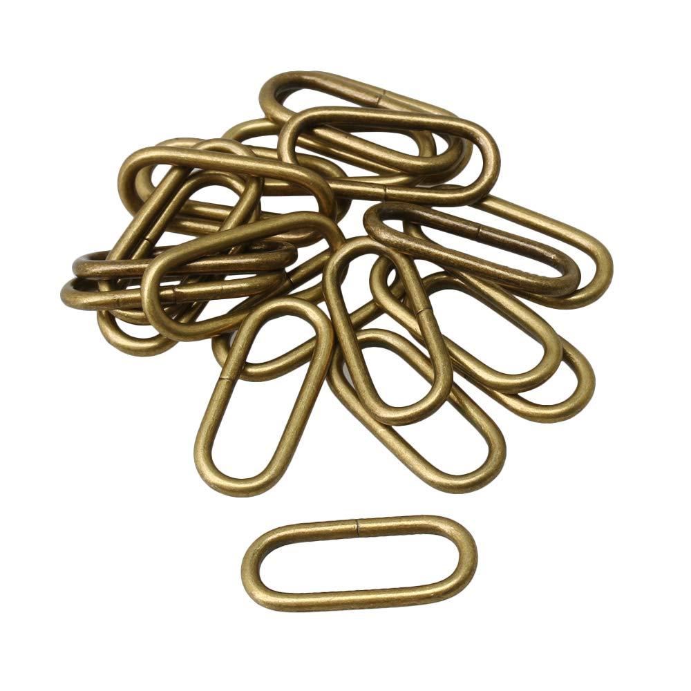 Yibuy 20x Metal Oval Hoop Buckle Loop Ring 20mm for Luggage Handbag Backpack
