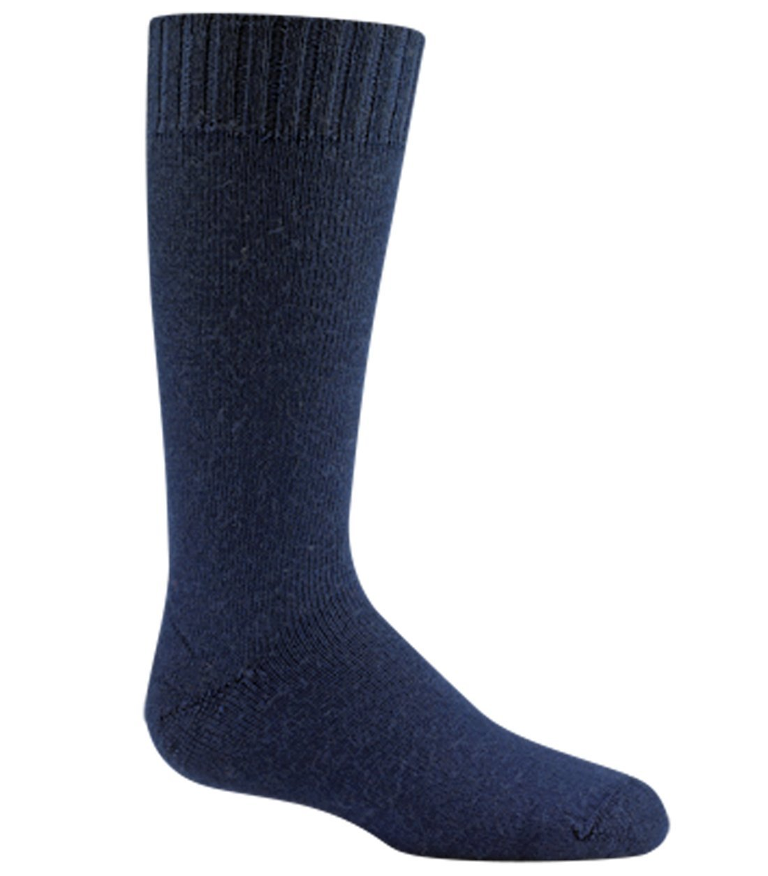 Wigwam Snow Jr. Socks Navy YX with a Helicase brand sock ring