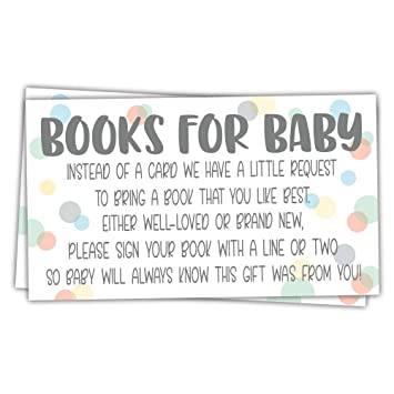 Amazon Com 50 Sweet Dot Books For Baby Shower Request Cards