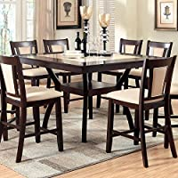 247SHOPATHOME Idf-3984PT-9PC Dining-Room, 9-piece Set, Dark Cherry