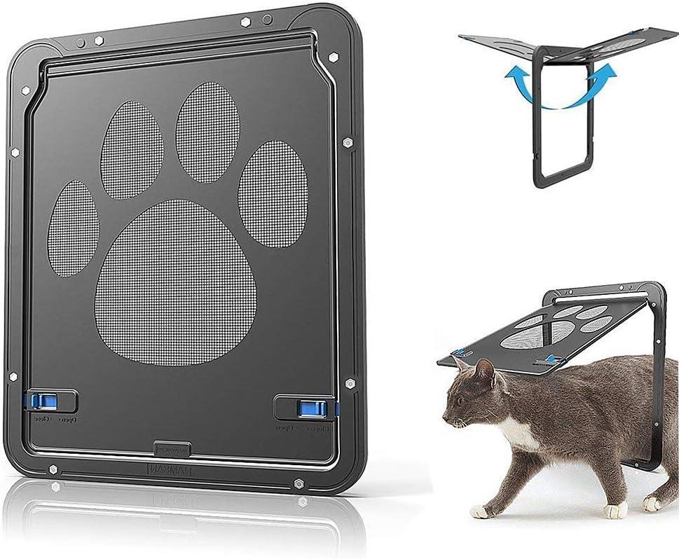 Jnzr Flap para Gato, Puerta de Pantalla para Mascotas Acceso ...