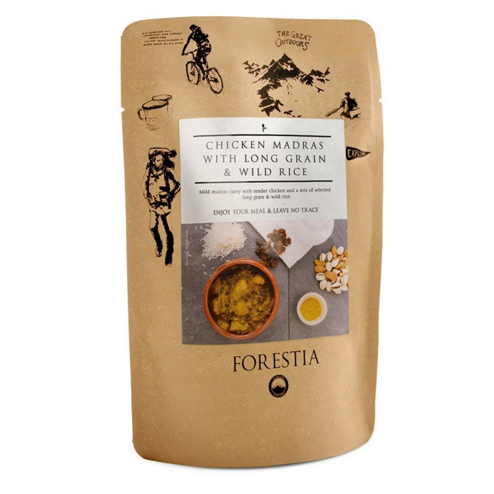 Forestia, Plato de carne envasado (Pollo al curry y arroz) - 4 de 350 gr. (Total 1400 gr.)
