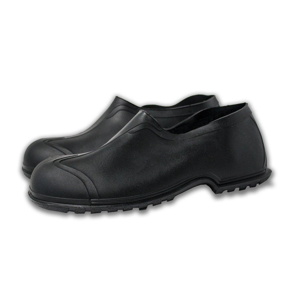 "UltraSource 440095-2XL PVC Overshoes, 4"", Black, Size 2X-Large (14-15)"