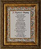 A Physician's Blessing - Framed Inspirational Gift for a Special Doctor or Graduation from Medical School (Personalization Available)