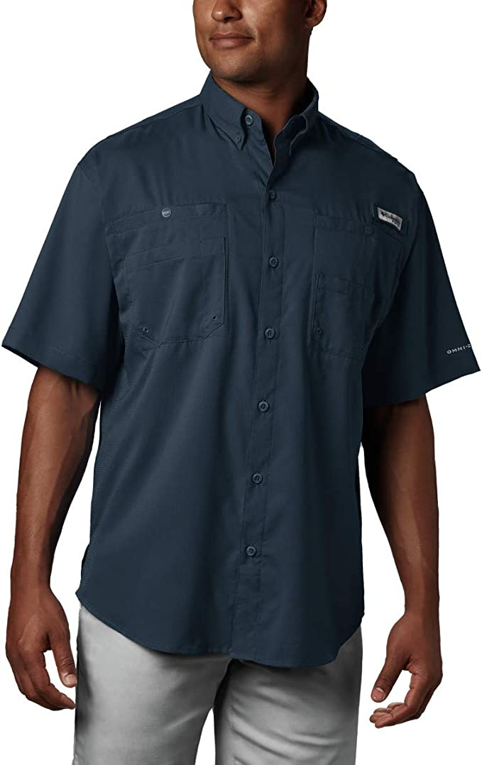 Columbia Men's PFG Tamiami II Short Sleeve Shirt, UPF 40 Sun Protection, Wicking Fabric best fishing shirts