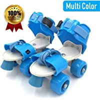 World of Needs® Roller Skates for Kids Age Group 5-12 Years Adjustable 4 Wheel Skating Shoes (Multi Color)
