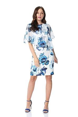 64a49453412a8 Roman Originals Femmes Robe Mousseline superposée à Fleurs et ...