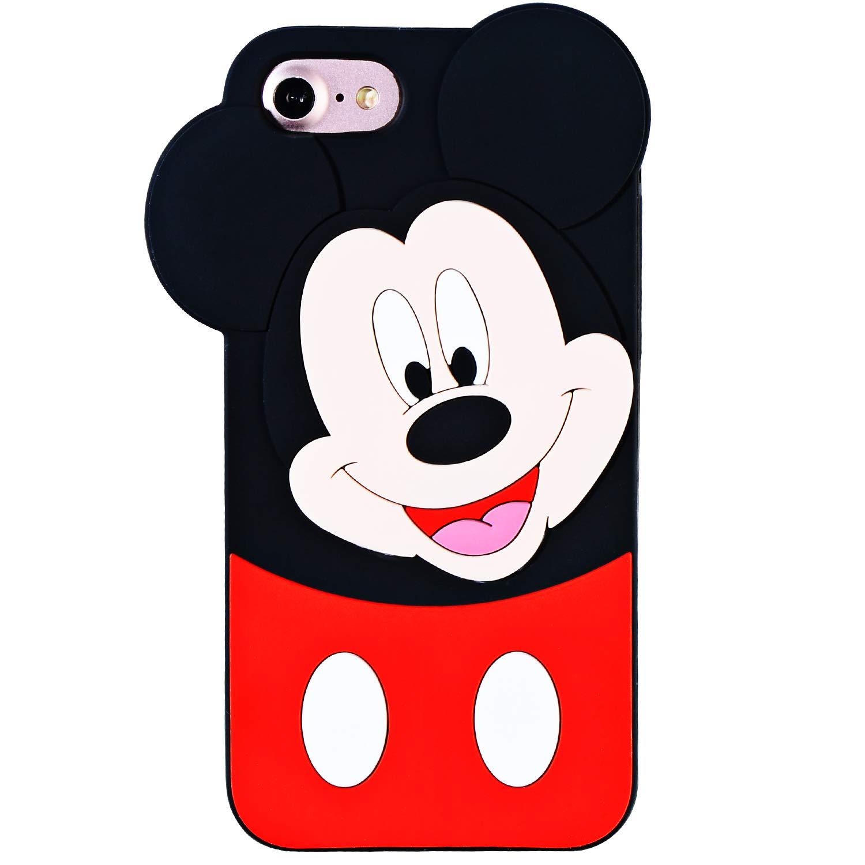 TopSZ シリコンミニーケース iPhone用 iPod Touch 6/5th ブラック  iPod Touch 6/5th Mickey B07KT343MW