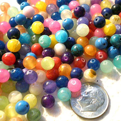 100pcs Mixcolors Natural Gemstone Round Beads 6mm ~Loose Beads~