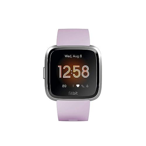 Fitbit Versa Lite Reloj Deportivo Smartwatch Adultos Unisex Lila Plata Aluminio Talla única