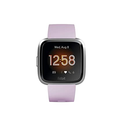 Fitbit Versa Lite - Reloj Deportivo Smartwatch, Adultos Unisex, Lila/Plata Aluminio, Talla única