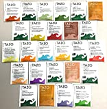PowerTea Medley Gift Box Tazo Tea Variety 50 Tea Bags with Power for Apple Honey Sticks