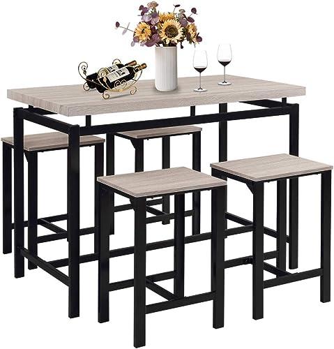 5 Pcs Dining Table Set