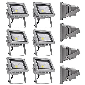 PrimLight Foco Led Exterior 8X 10W Iluminación Led de Seguridad ...