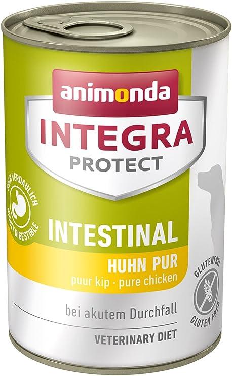 animonda Integra Protect Intestinal para perros, comida dietética para perros, comida húmeda para casos de diarrea o vómitos, puro pollo, 6 x 400 g