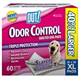 OUT! Odor Control Extra Large Dog Pads, 26 x 24 inches, Multiple Counts