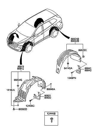 Amazon Com Genuine Splash Guard Mud Flap Front Rear For Hyundai